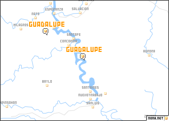 map of Guadalupe
