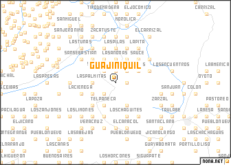 map of Guajiniquil