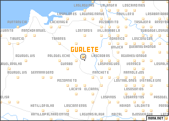 map of Gualete