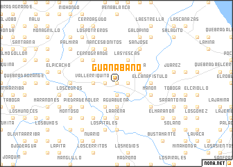 map of Guanábano