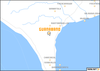 map of Guanábano
