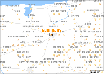 map of Guanajay