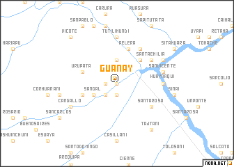 map of Guanay