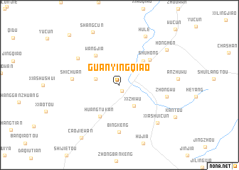 map of Guanyingqiao
