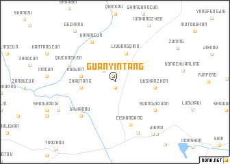 map of Guanyintang