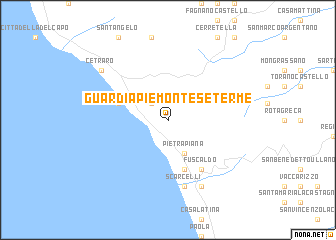 Guardia Piemontese Terme Italy Map Nona Net
