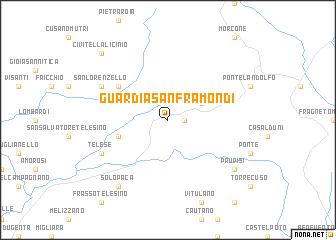 Guardia Sanframondi Italy Map Nona Net