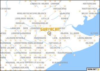 map of Guayacán