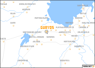 map of Guayos