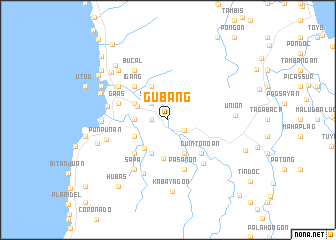 map of Gubang