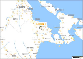 map of Gubat