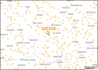 map of Gučevo
