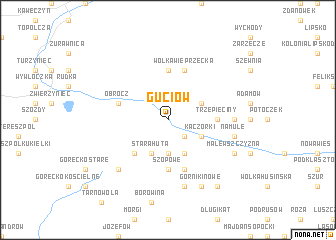 map of Guciów