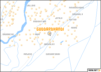map of Guddar Dhandi