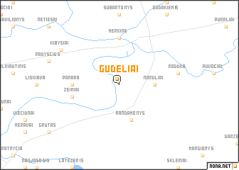 map of Gudeliai