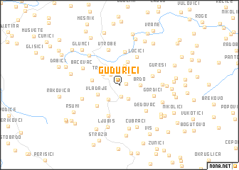 map of Gudurići