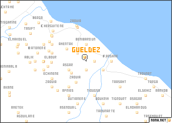 map of Gueldez