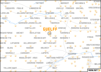 map of Guelff