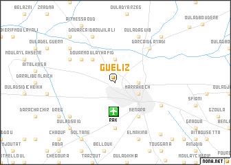 map of Gueliz