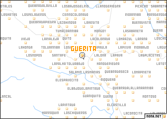 map of Güerita