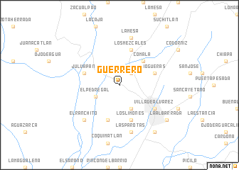 map of Guerrero