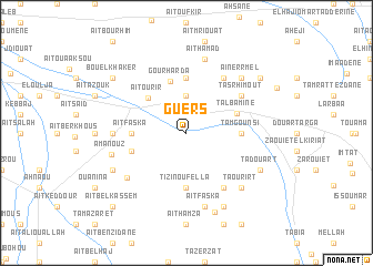 map of Guers