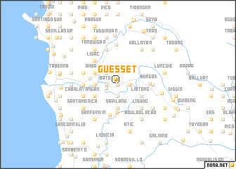 map of Guesset