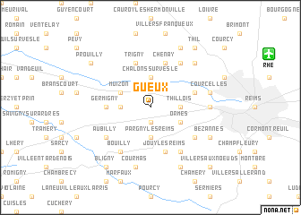 map of Gueux