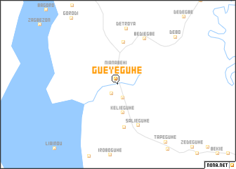 map of Guéyéguhé
