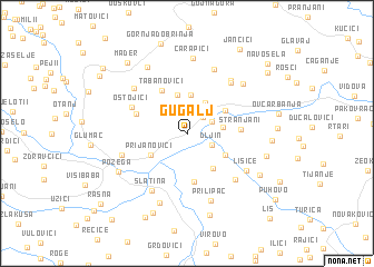 map of Gugalj