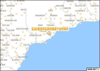 map of Guibongan Bayunan