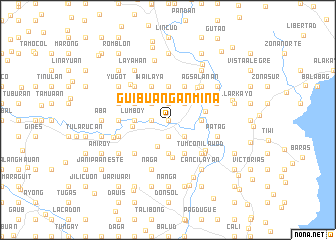 map of Guibuañgan-Mina