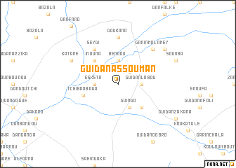 map of Guidan Assouman