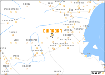 map of Guinaban
