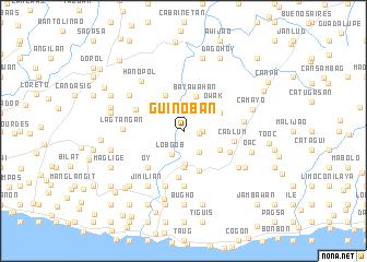 map of Guinob-an