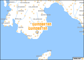 map of Guinobatan