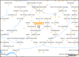 map of Guinot