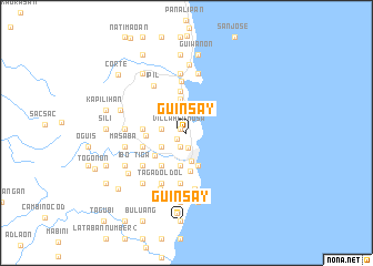map of Guinsay
