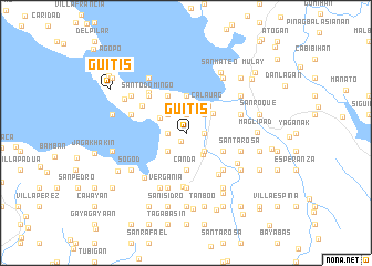 map of Guitis