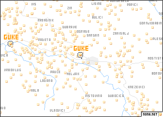 map of Guke