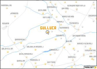 map of Güllücǝ