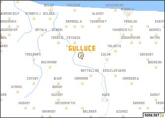 map of Güllüce