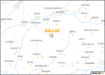 map of Güllük