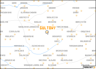 map of Gułtowy