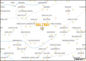 map of Gułtowy