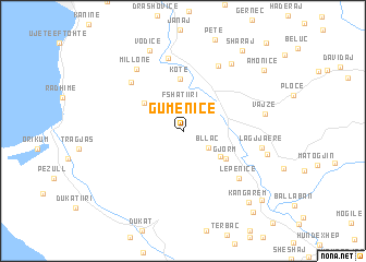 map of Gumenicë