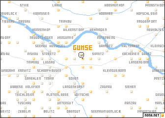 map of Gümse