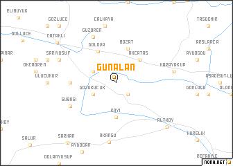 map of Günalan