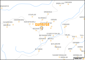 map of Günǝvşa
