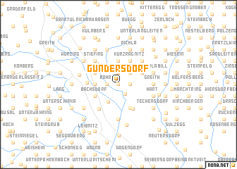map of Gundersdorf